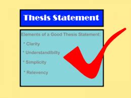 How long is your thesis statement supposed to be